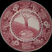 Mohawk Park Hail to the Sunrise Adams Staffordshire Souvenir Plate
