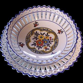 Schumann Bavaria  Bowl & Plate Art DEco Floral