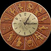 Maddux Pottery Calif Zodiac Clock Westclox