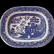 Ridgway England Blue Willow Deep Serving Platter Transferware
