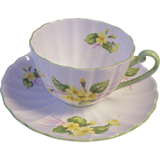 Lovely Shelley England Primrose Tea Cup & Saucer Fine Bone China
