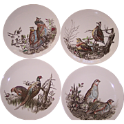 Large Johnson Brothers Game Birds Hand Engraved Dinner Plates England