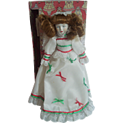 "12"" Porcelain Angel Tree Top Topper Enesco 1983 in Box"
