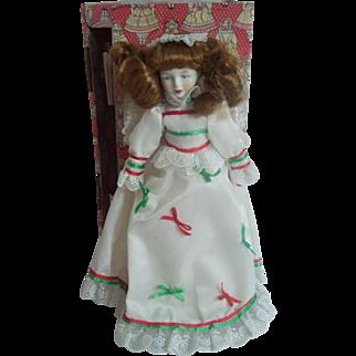 """12"""" Porcelain Angel Tree Top Topper Enesco 1983 in Box"""