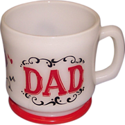 Hazel Atlas DAD Gay 90's Shaving Coffee Mug
