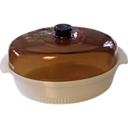 Fire King Anchor Hocking Oval Large 3 Q Casserole