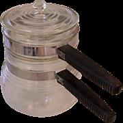 Vintage Double Boiler Set Corning Glass 3 pc