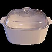 Corning White 5 L Covered Casserole Dutch Oven