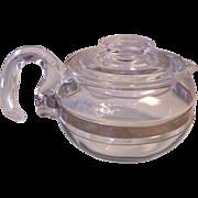 Pyrex Flameware 6 C Blue Tint Teapot
