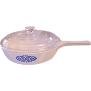 Corning Blue Medallion Covered Sauce pan- P-83-B