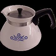 Corning Cornflower Blue 6 Cup Teapot