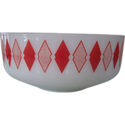 Federal Large Red Diamond Mixing Bowl