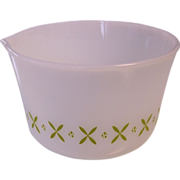 FireKing Mixing Bowl with Green Pattern