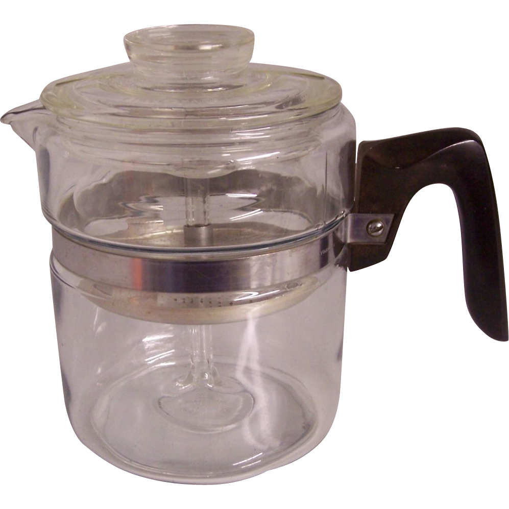 Pyrex Coffee Maker How To Use : Pyrex Flameware Coffee Percolator Pot SOLD on Ruby Lane
