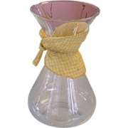 Vintage Large Chemex Pyrex Glass Coffee Carafe w/ Fabric Cozy Collar