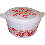 Pyrex Friendship Casserole with Matching Lid
