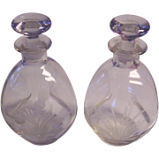 Pr Scotch Thistle and Rye Pinch Decanters