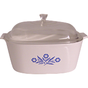 Corning Cornflower Blue 5 Quart Dutch Oven Casserole