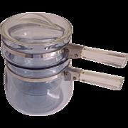 Pyrex Flame ware Blue Tint Double Boiler