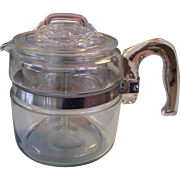 Pyrex Flameware 4 Quart Coffee Pot Complete