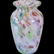 Beautiful Art Glass Spatter Studio Vase M Miller