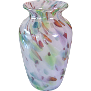 Beautiful Art Glass Spatter Studio Vase M Miller
