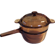 Corning Vision 3 pc Double Boiler Set Amber Visions 1.5 L
