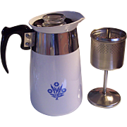Corning ware Cornflower Blue 6 Cup Coffee Pot