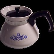Corning Cornflower Blue 6 C Teapot
