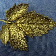Flora Danica Sterling Leaf Brooch Eggert Denmark