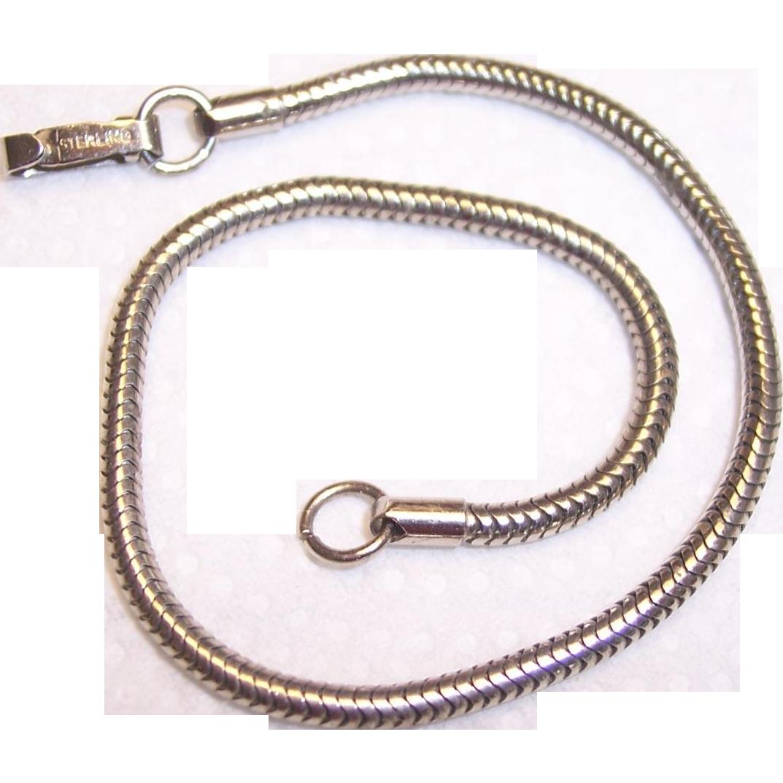 Vintage Sterling Silver Bracelet 34