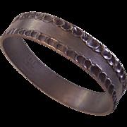 Jorgen Jensen Danish Modernist Pewter Bangle Bracelet