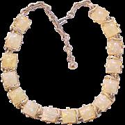 Coro Iridescent Confetti Thermoset Lucite Necklace