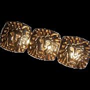 Anne Klein Signature Gold tone Lion Brooch