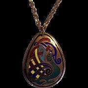 Enamel Book of Kells Pendant on Chain