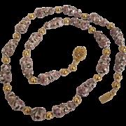Unusual Enamel Cloisonne Necklace