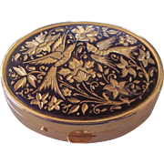 Pretty Oval Damascene Trinket Box from Toledo Spain