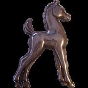 Vintage Sterling Silver Colt Brooch