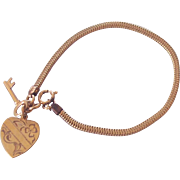 Key to My Heart Gold Filled Sweetheart Charm Bracelet