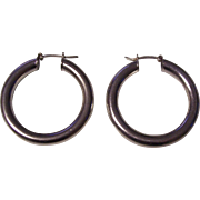 Sterling Silver Hoop Earrings Italy