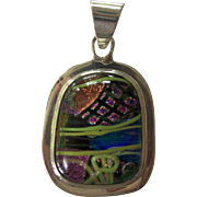Striking Dichroic Glass Sterling Pendant