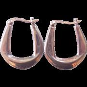 Sterling Silver Modernist Hoop Earrings