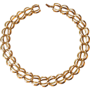Beautiful Vintage Napier Gold tone Choker Necklace