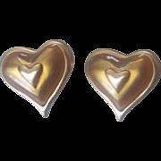 Anne Klein Gold tone Heart Earrings