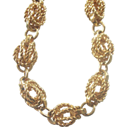 Monet Gold tone Twisted Knot Necklace