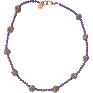 Anne Klein Beaded and Gold tone Necklace