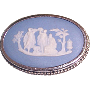Wedgwood Cameo Brooch Sterling Silver