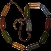 Vintage Lucite Cylinder Necklace