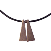 Sterling Minimalist Necklace Signed