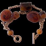 Amber Double Strand Bracelet